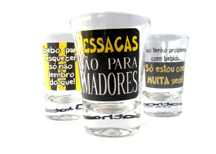 Jogo de 3 copos Campana Ressaca