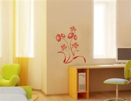 Adesivo de Parede - Flores Chrysanthemum