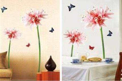 Adesivo de Parede - Flores e Borboletas