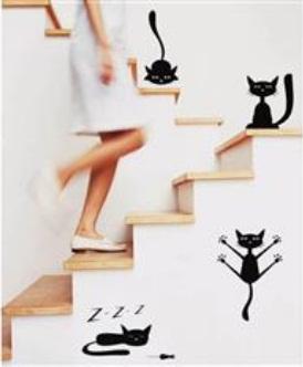 Adesivo de Parede - Gatos