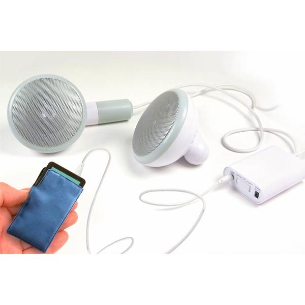 Alto-falantes em forma de Fones-de-ouvido gigantes