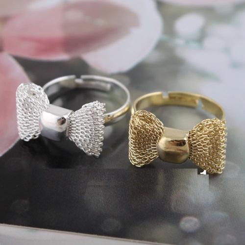 Anel com Top (prata e dourado)