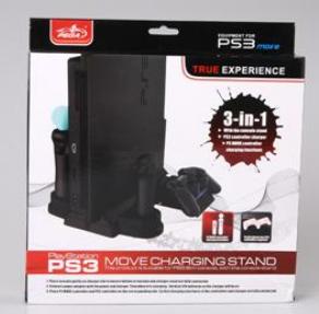 Base Carregadora Pega 3 em 1 para PlayStation 3 (Preto) - Pega