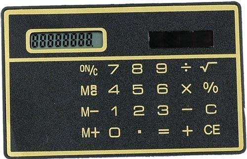Calculadora Solar do Tamanho de um Cartão de Crédito