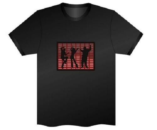 Camiseta LED Luminosa Ativada por Som - Equalize Dancer