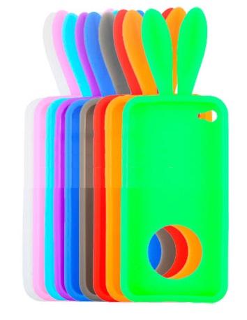 Capinha de Coelhinho com Suporte para iPhone 4/4S (6 cores)