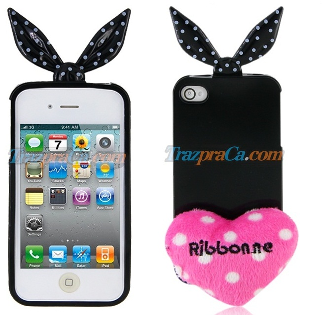 Capinha de Lançinho com Coração para iPhone 4/4S (3 cores) - Ribonne