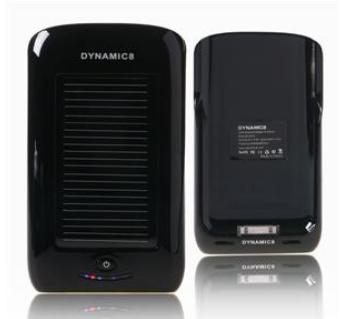 Carregador Solar 5V 2000mAh para iPhone (Preto) - DYNAMIC8