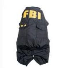 Casaco quente estilo FBI descolado -  4 Buracos - Preto (Tamanho M)