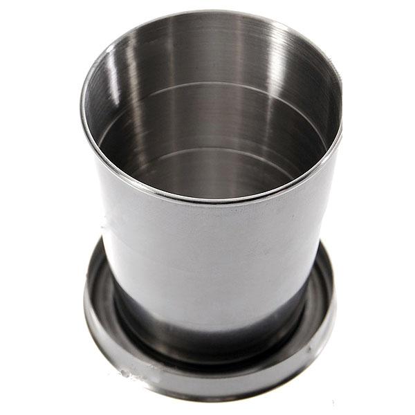 Chaveiro Copo Retrátil em Aço Inoxidável - Grande (185ml)