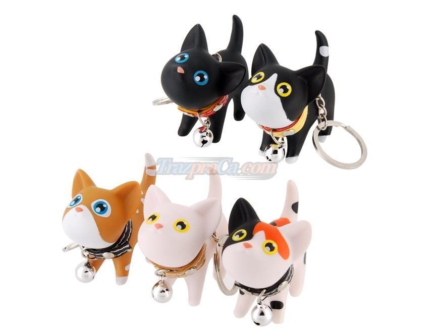 Conjunto com 5 Chaveiros de Gatinhos