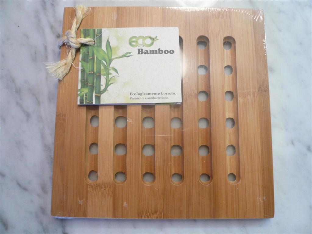 Descansa Prato Quadrado EcoBamboo - Entrega garantida em 08 dias úteis