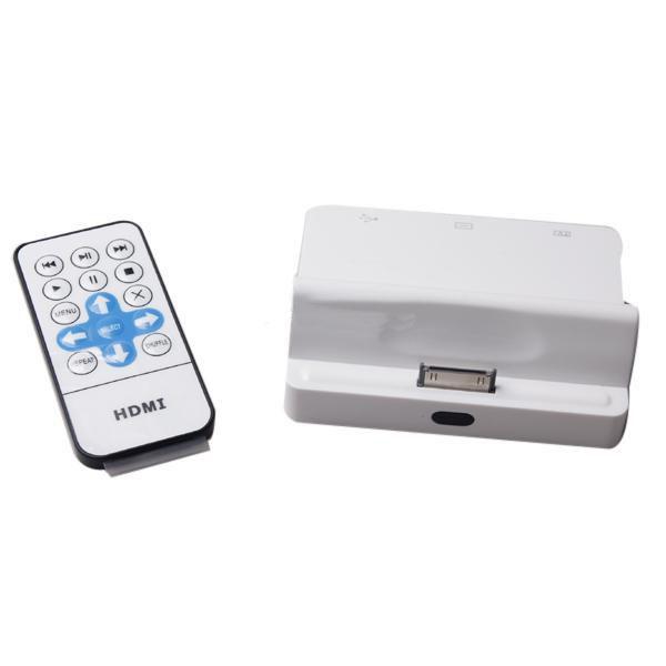 Dock com saída HDMI para conexão iPhone/iPad na TV