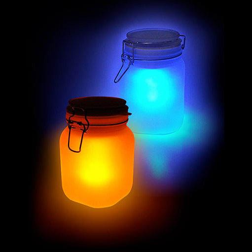 Jarra Solar Recarregável (Iluminação Amarela e Azul)