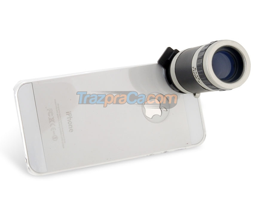 Lente Externa para iPhone 5 - 6x Zoom + Capa Crystal