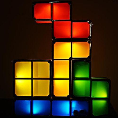 Luminária em formato de Tetris - Monte como quiser!