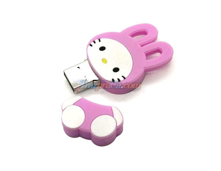 Memória USB 2GB Coelhinho Rosa