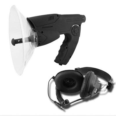 Microfone Direcional/Escuta de Longo Alcance para Ampliação de Som com Luneta