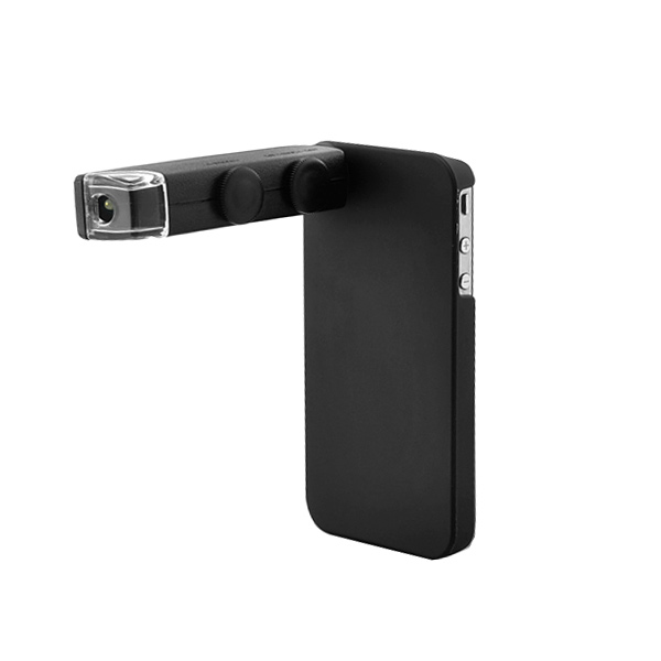 Microscópio Digital 100x para iPhone 4/4S (Preto)