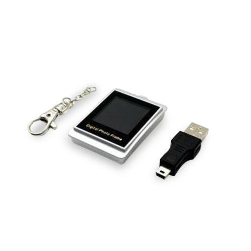Mini Porta Retrato Digital 1.5 (rosa e prata)