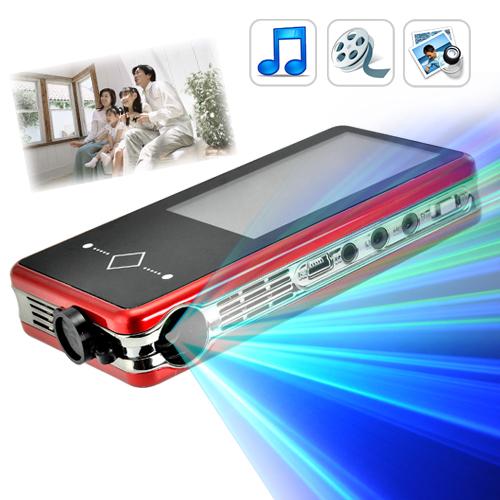 Mini Projetor Multimidia E87 de LED com 2GB de Memória