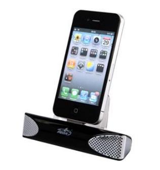 Mini Som e carregador para iPhone 3G/3GS/4/4S (Preto) - Pega
