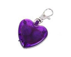 Pingente com LED em Formato de Coração (Vermelho, amarelo e violeta)