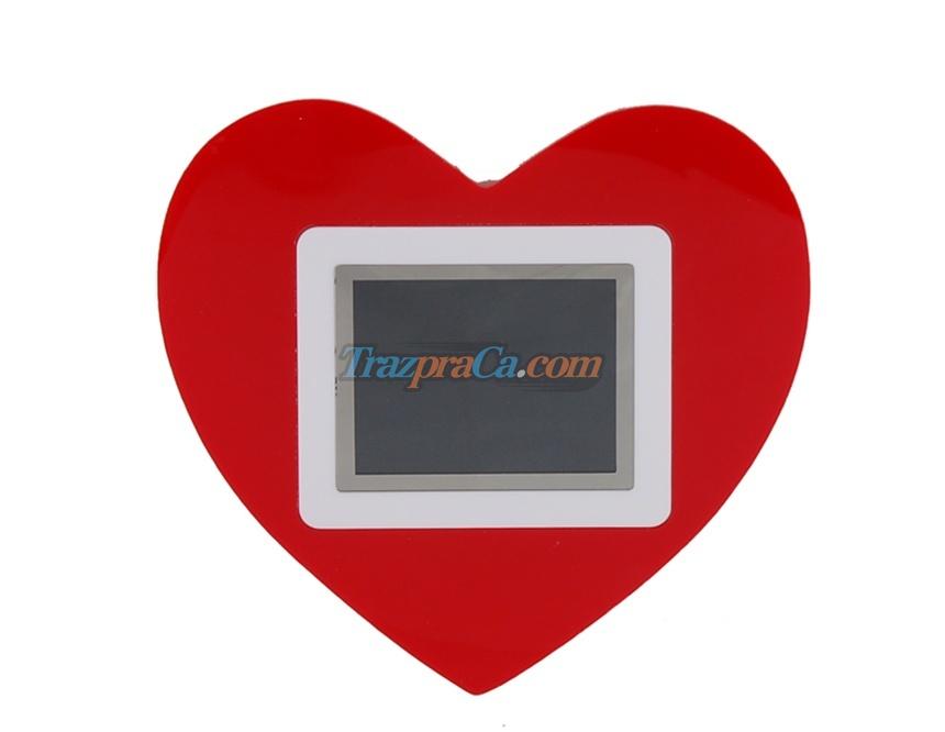 Porta Retrato Romântico em Coração Tela 2,4 LCD