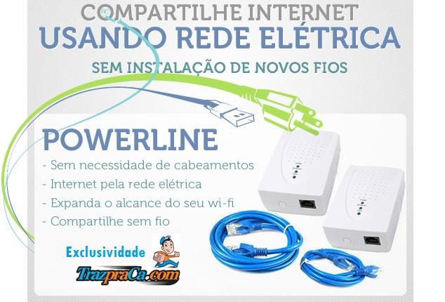 Powerline - Compartilhe internet usando a rede elétrica