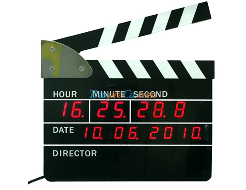 Relógio Alarme Clap Board do Diretor - Veja o Vídeo
