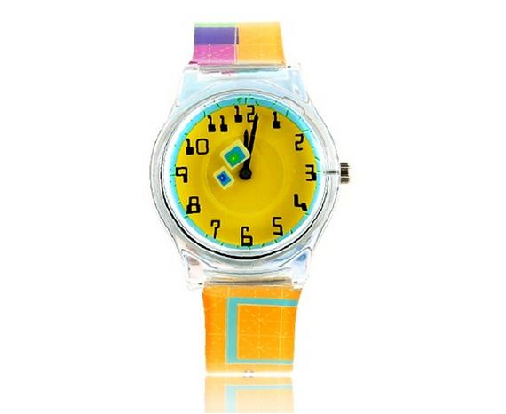 Relógio Arco-íris amarelo