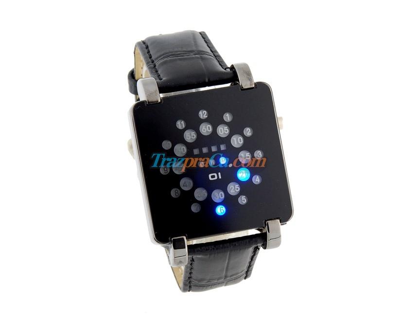 Relógio com Indicativos de Luz Azul LED