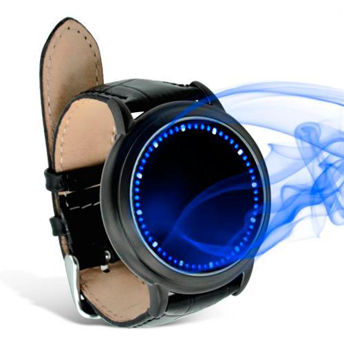 Relógio de LED azul Abismo Touchscreen