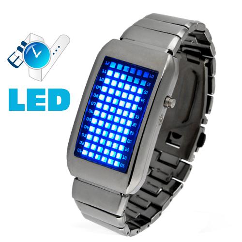 Relógio de LED Future (Branco, vermelho e verde)