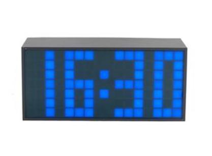 Relógio LED de Mesa com Temperatura (Azul, vermelho e verde)
