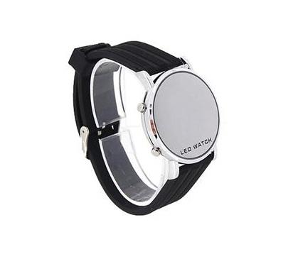Relógio LED de pulso em Aço Inoxidável
