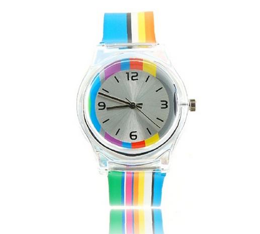 Relógio Linhas Coloridas