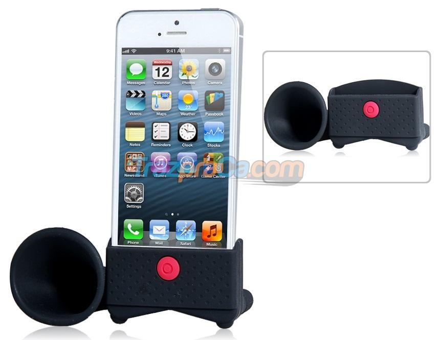 Stand de Silicone para iPhone 5 com Alto Falante