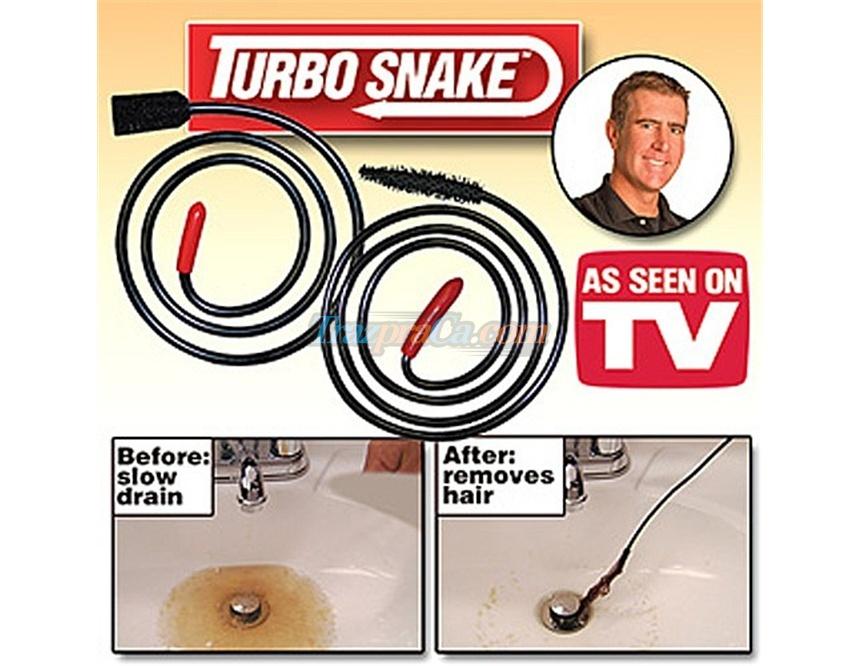Turbo Snake Desentupidor de Cabelo de Ralos e Pias - Veja o vídeo!